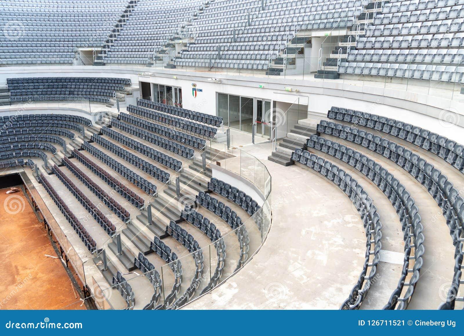 Campi Da Tennis Roma.Campo Da Tennis Del Foro Italico A Roma Immagine Stock Immagine Di