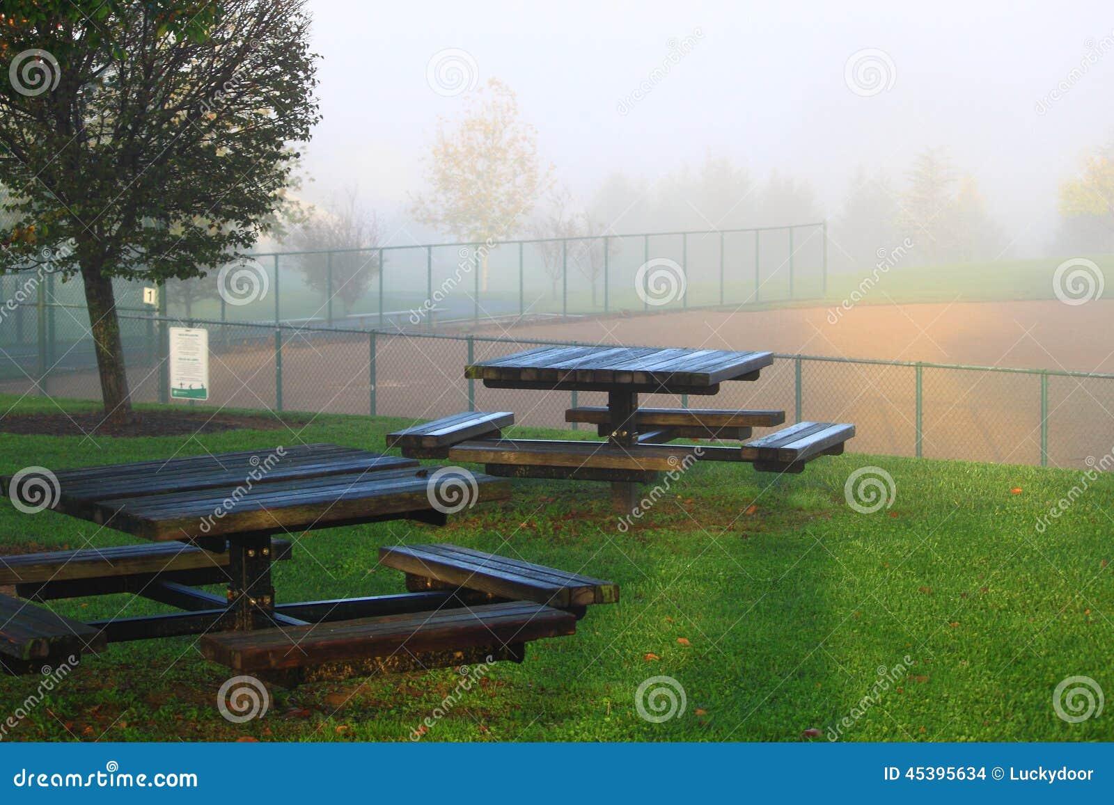 Campo de béisbol de las mesas de picnic
