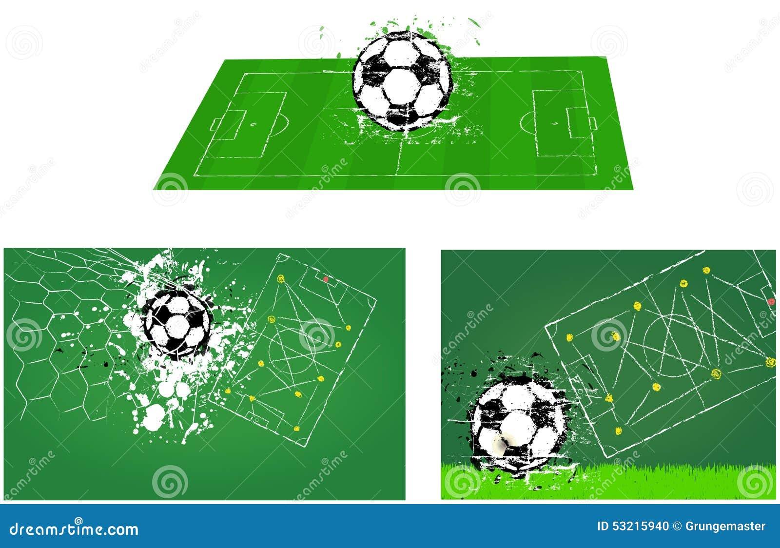 Campo de fútbol del fútbol O ejemplos del fútbol
