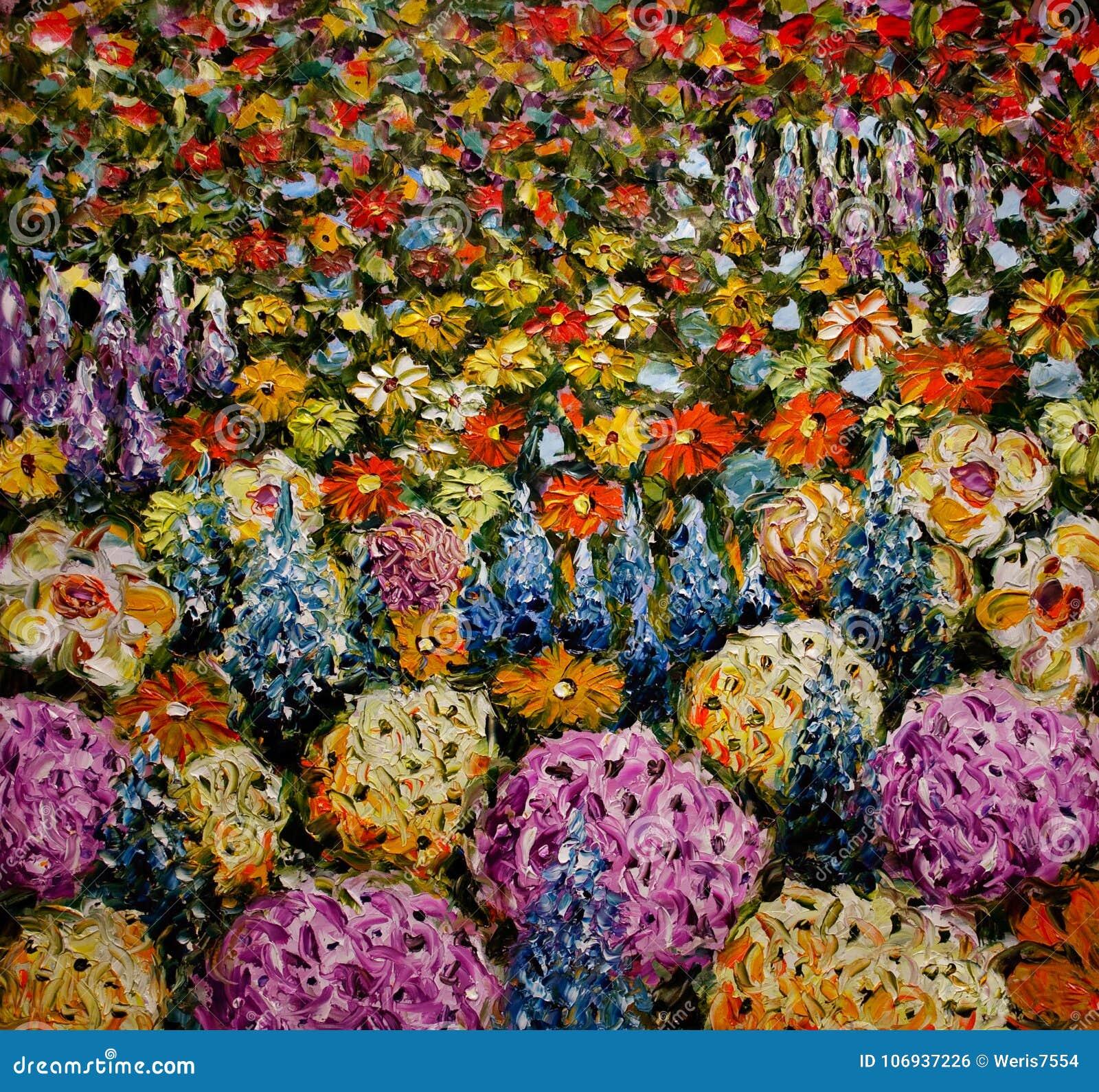 Campo de flor abstracto, claro del fondo colorido de las flores