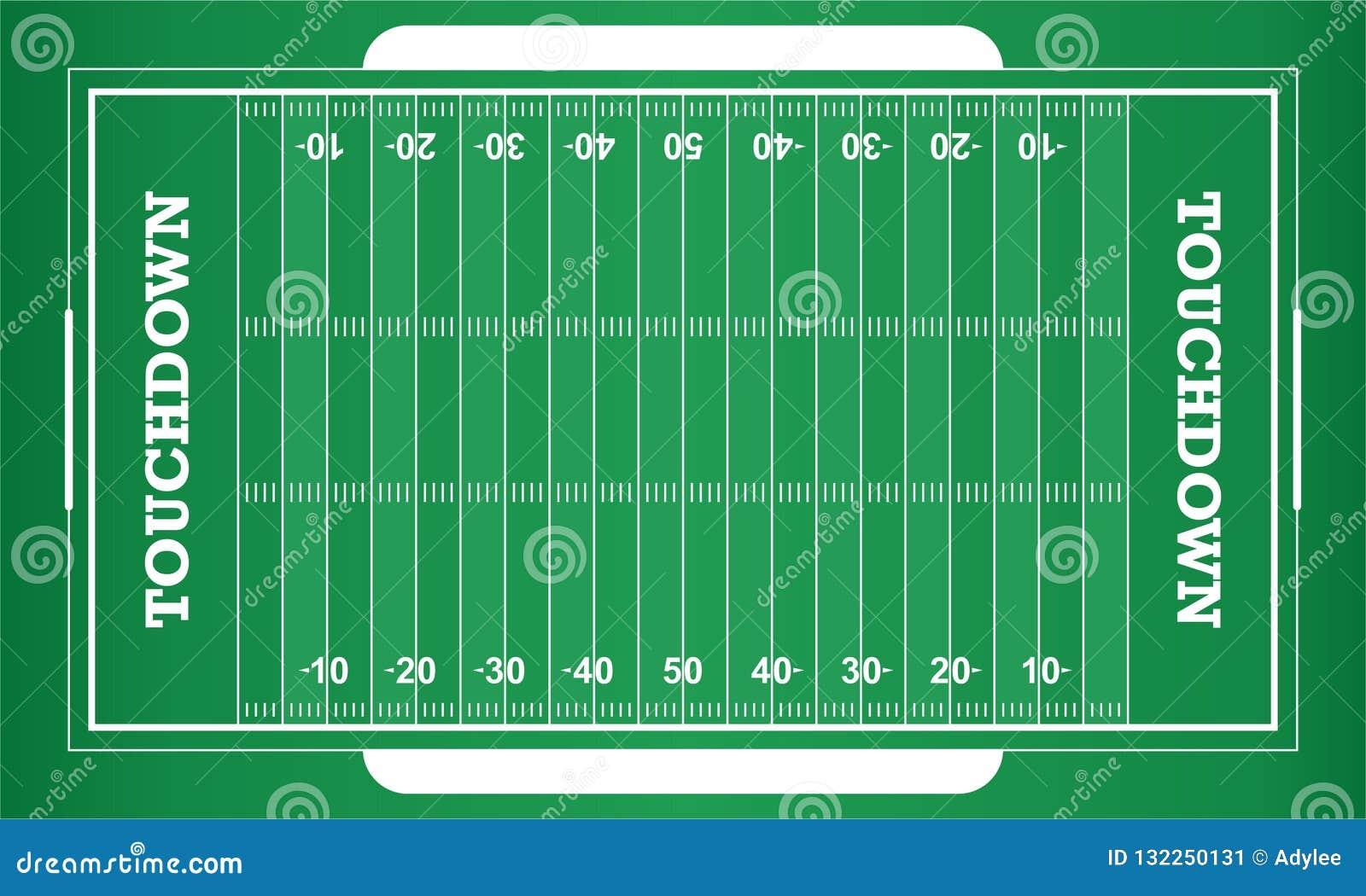 Campo de futebol americano do vetor