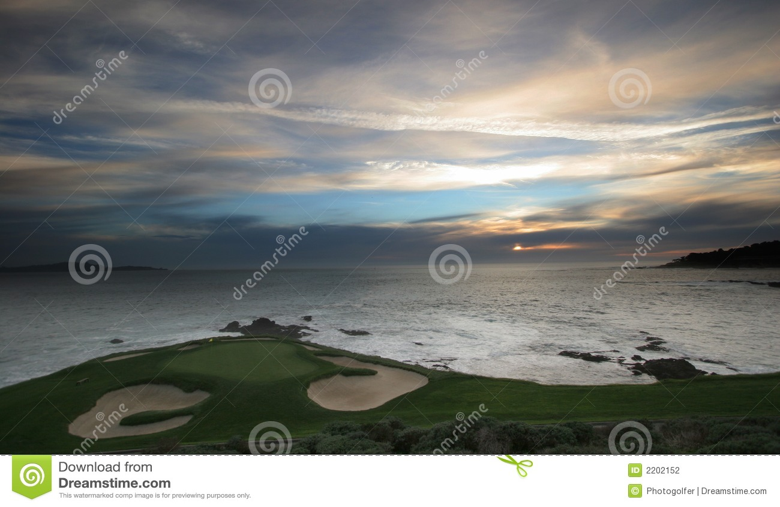 Campo de golf de Pebble Beach, Ca
