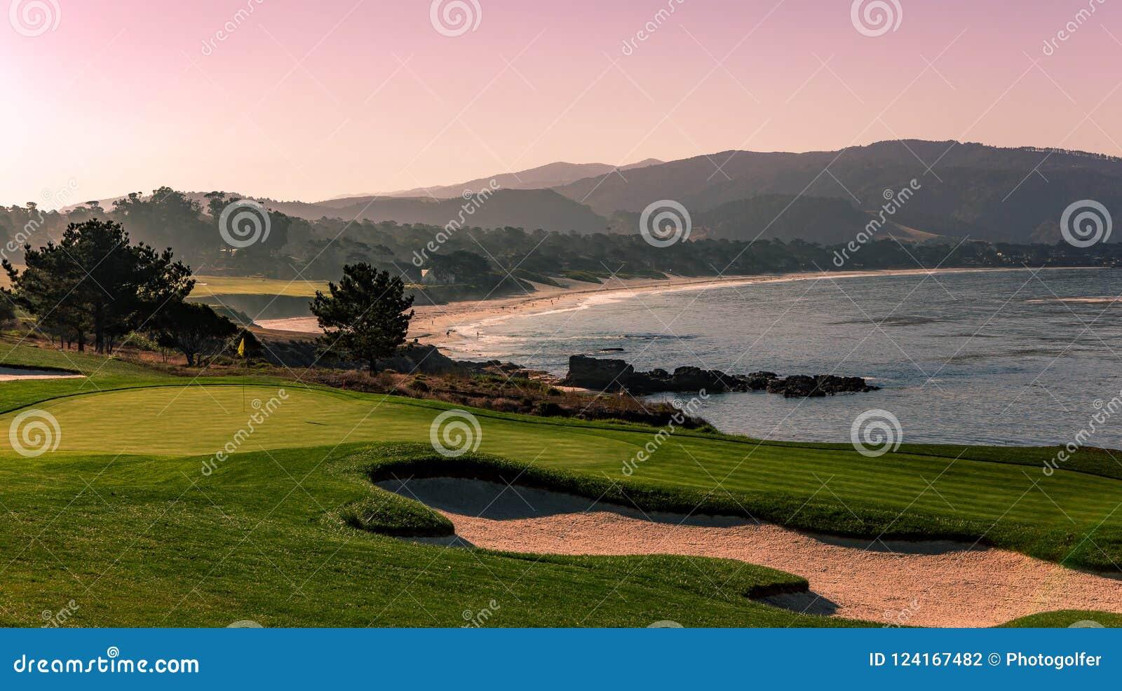Campo de golfe de Pebble Beach, Monterey, Califórnia, EUA