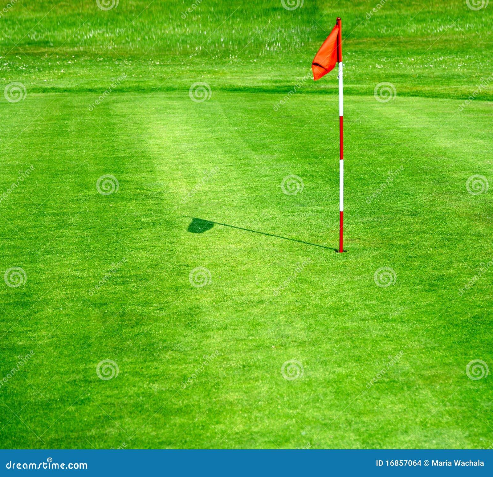 Campo de golfe verde