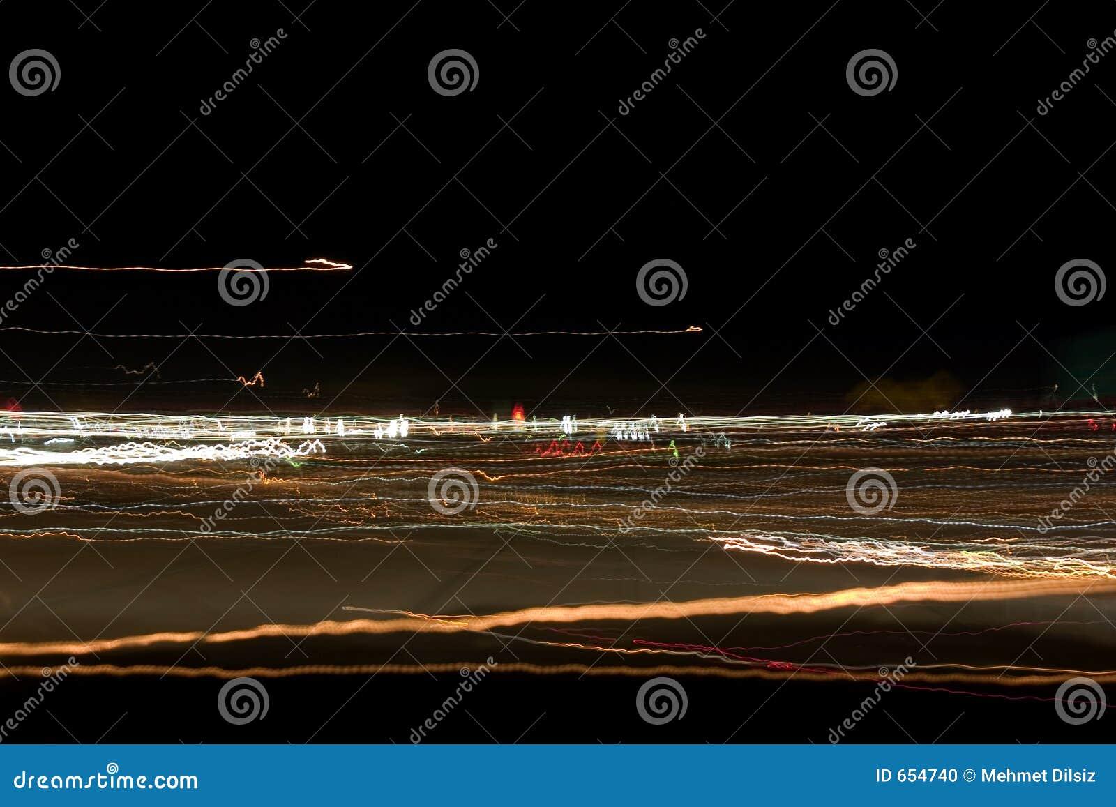 Campo de las luces abstractas de la noche