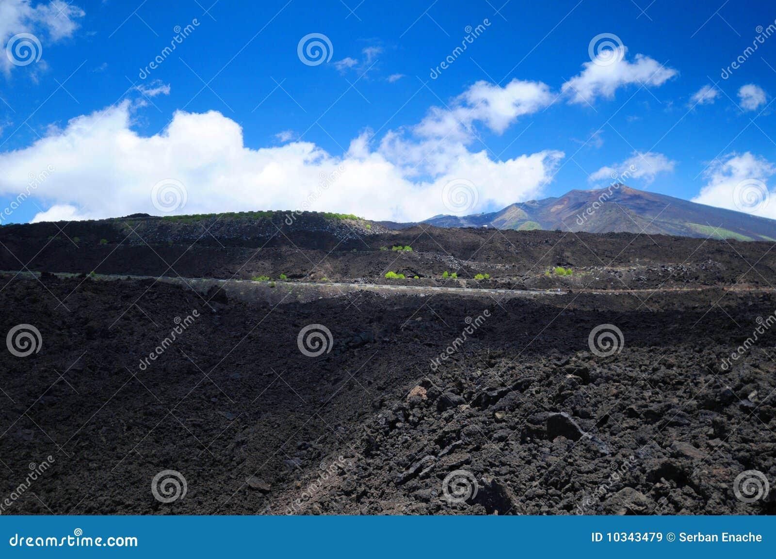 Campo de lava vulcânico