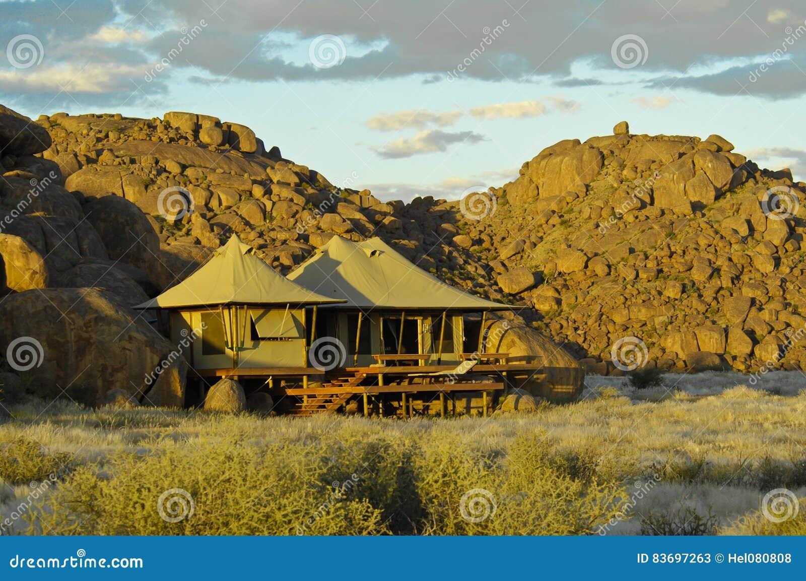 Campo de lujo Namibia del safari