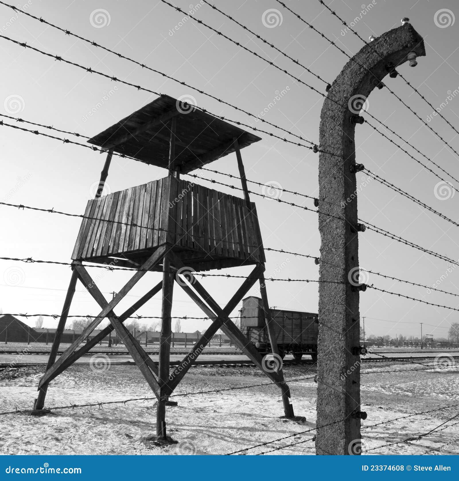 Campo di concentramento nazista di Birkenau - Polonia Fotografia Stock ...