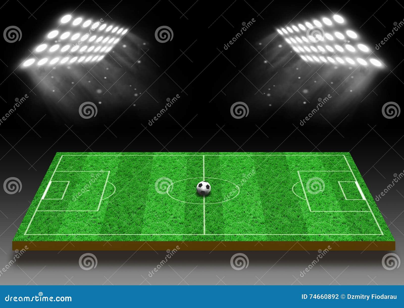 Campo Di Football Americano Con Un Prato Inglese Nellambito Delle