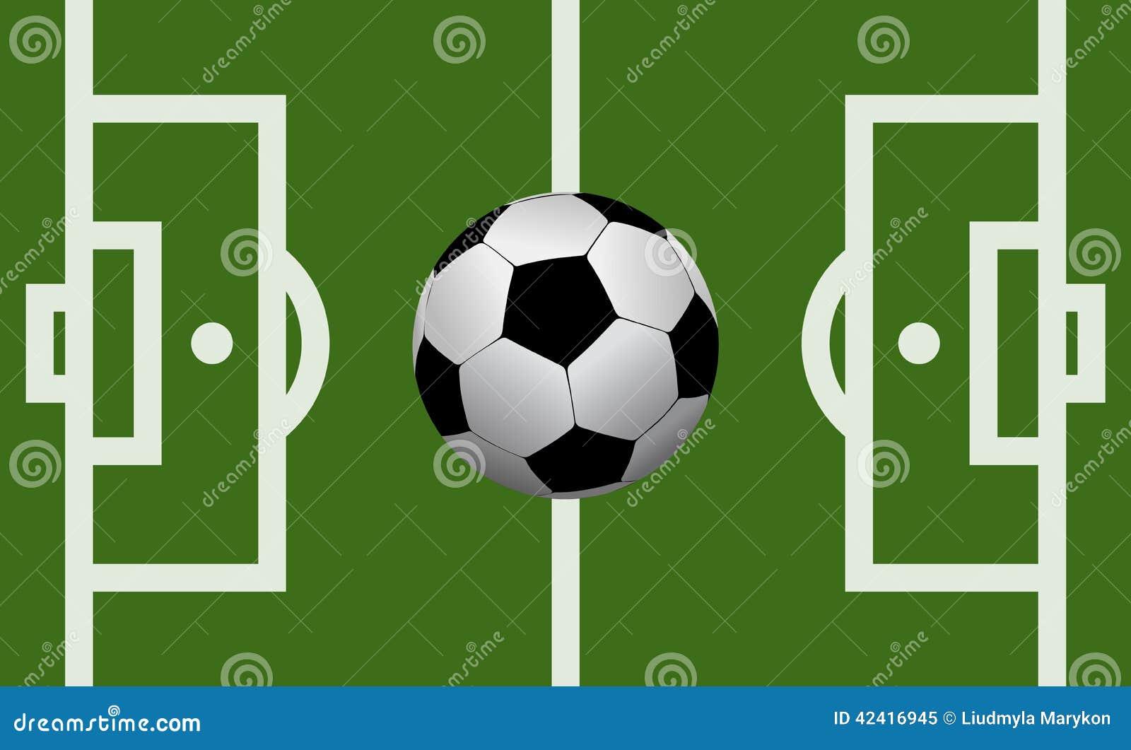 Campo di football americano di vettore con un pallone da - Pagina da colorare di un pallone da calcio ...
