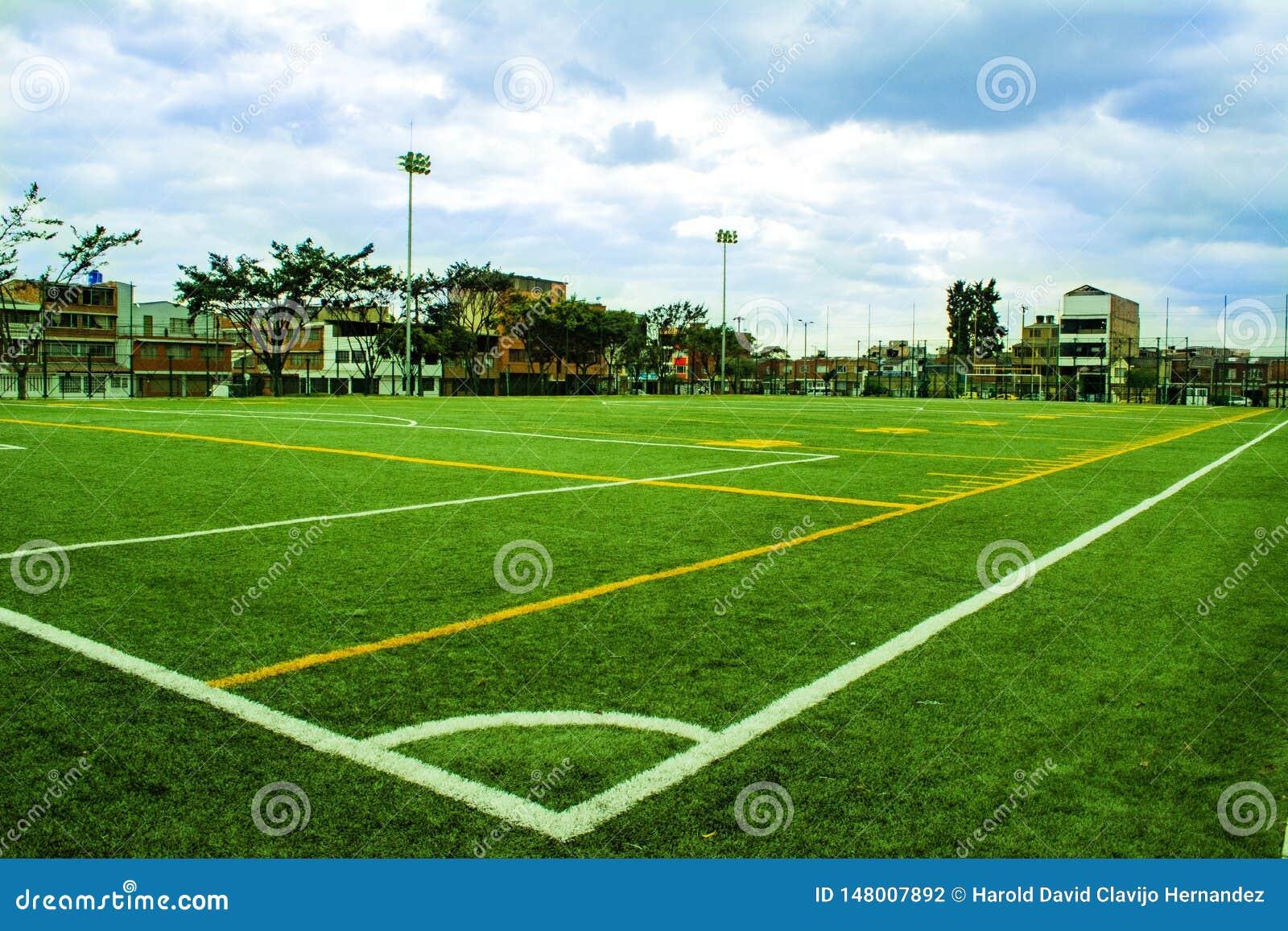 Campo do futebol e de futebol