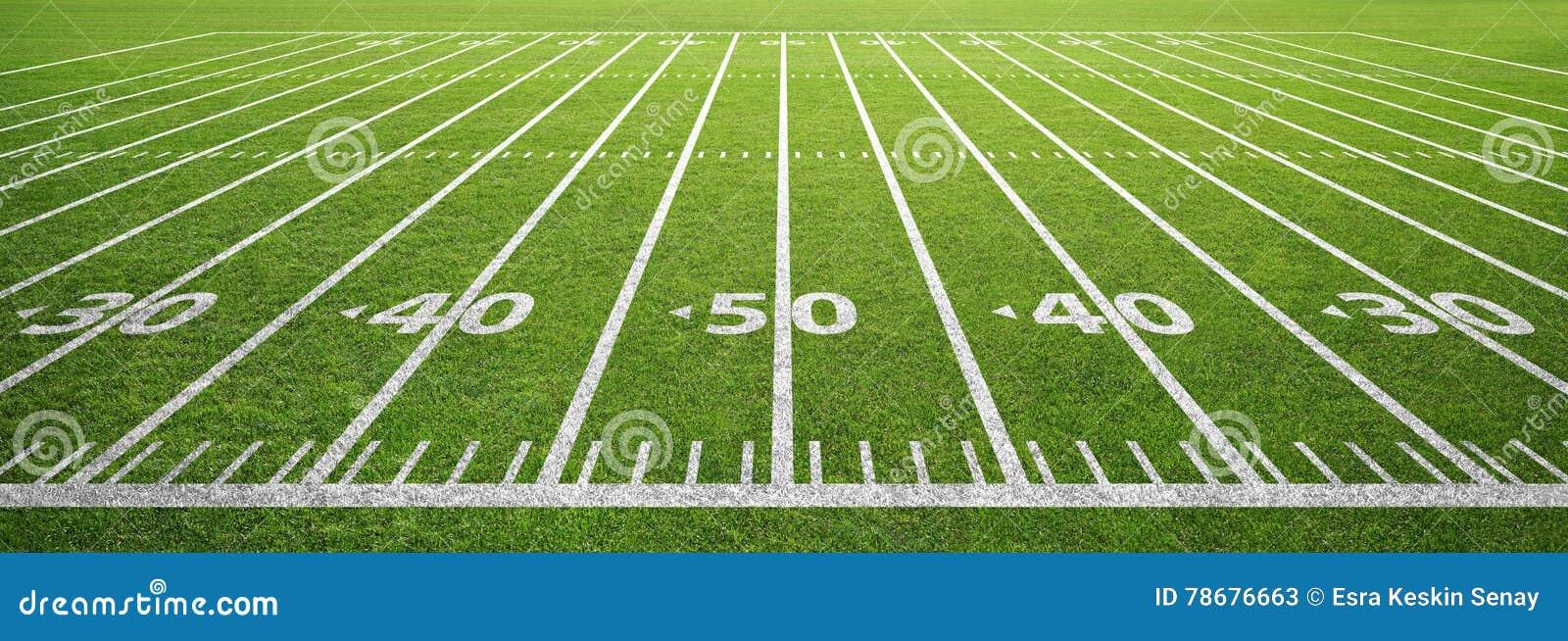Campo ed erba di football americano