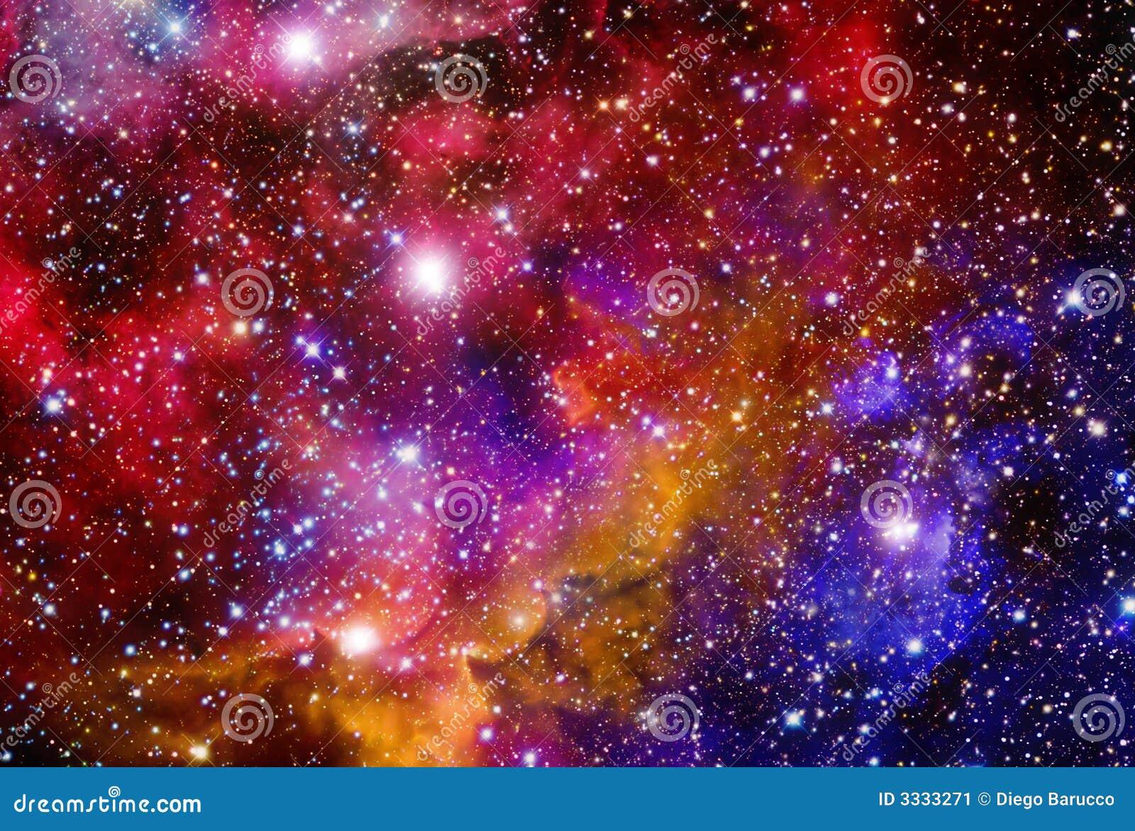 Campo estelar con las nebulosas