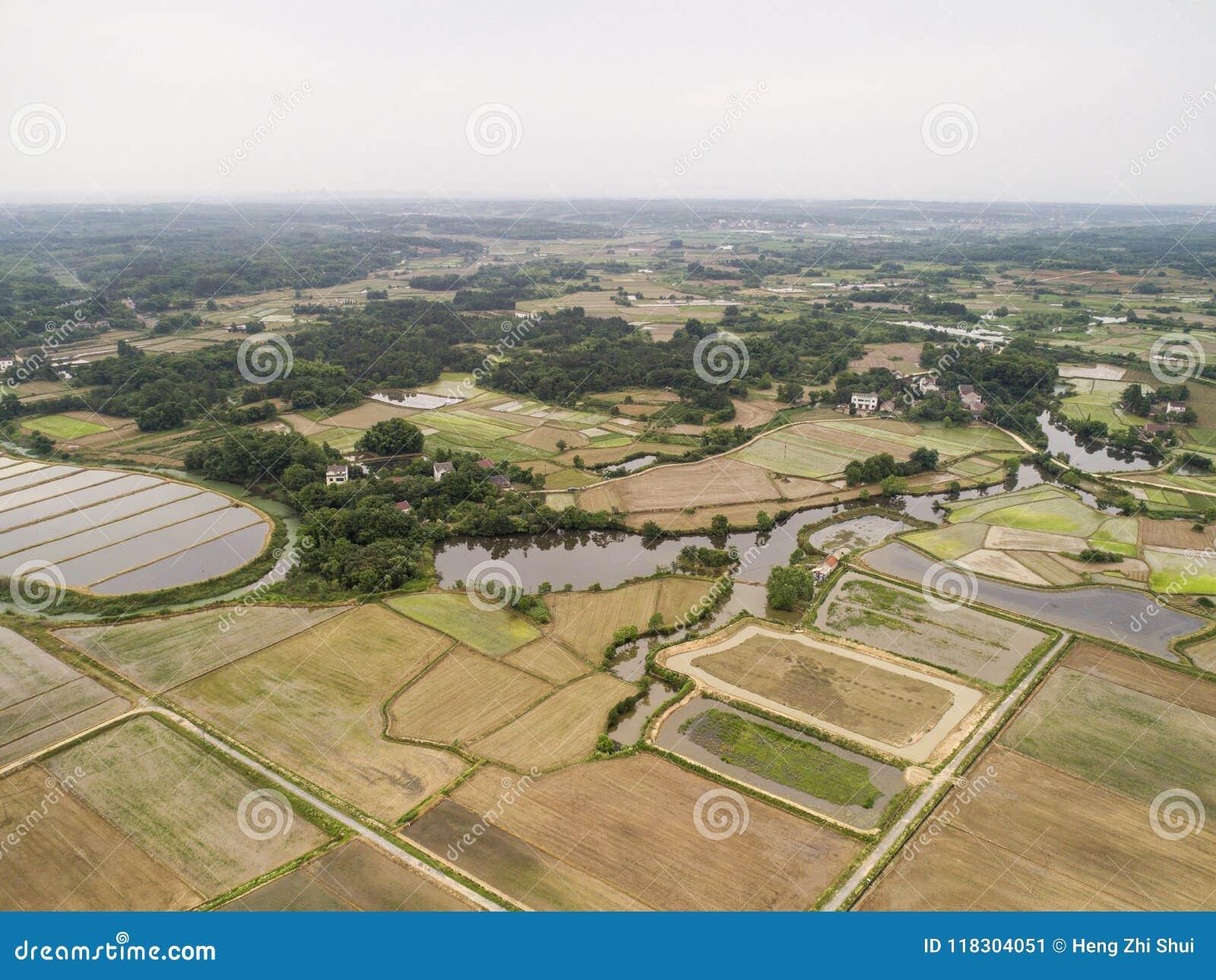 Campo Hermoso En La Provincia De Anhui Del Sudeste China