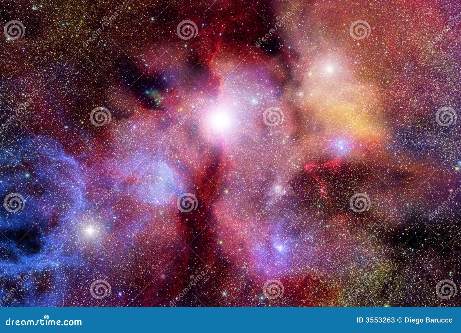 Campo stellare con le nebulose