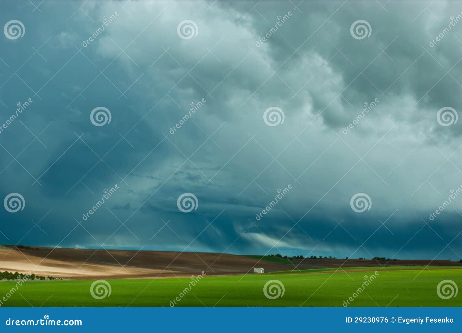 Download Campo verde foto de stock. Imagem de colheita, clima - 29230976