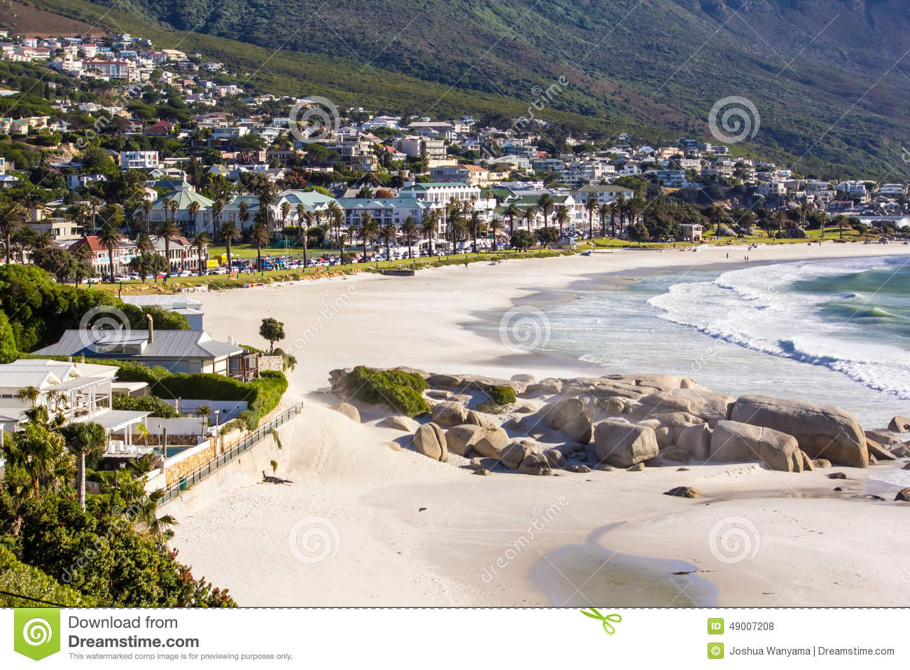 Download Camps Bay Beach, Cape Town stock photo. Image of twelve - 49007208