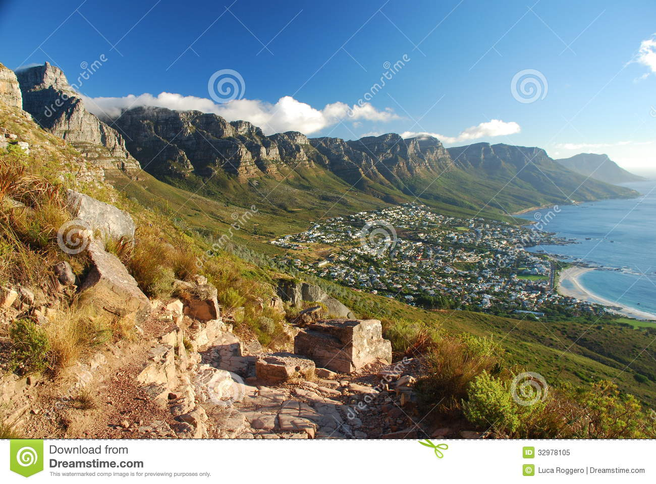 Camps Bay and Twelve Apostles. Cape Town, Western