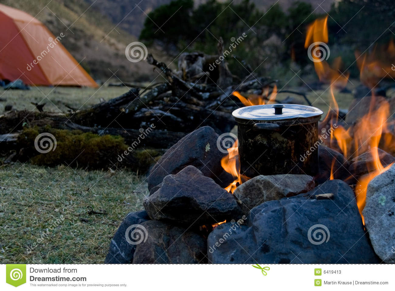 Campsite cooking