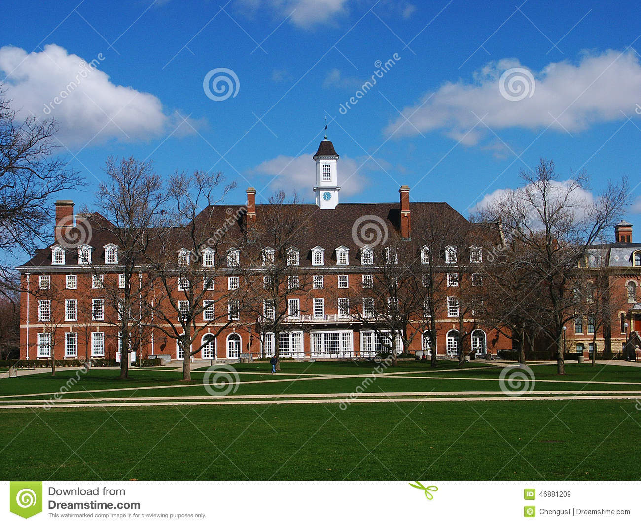 Campus Building Blue Sky And Tree Stock Image Image Of