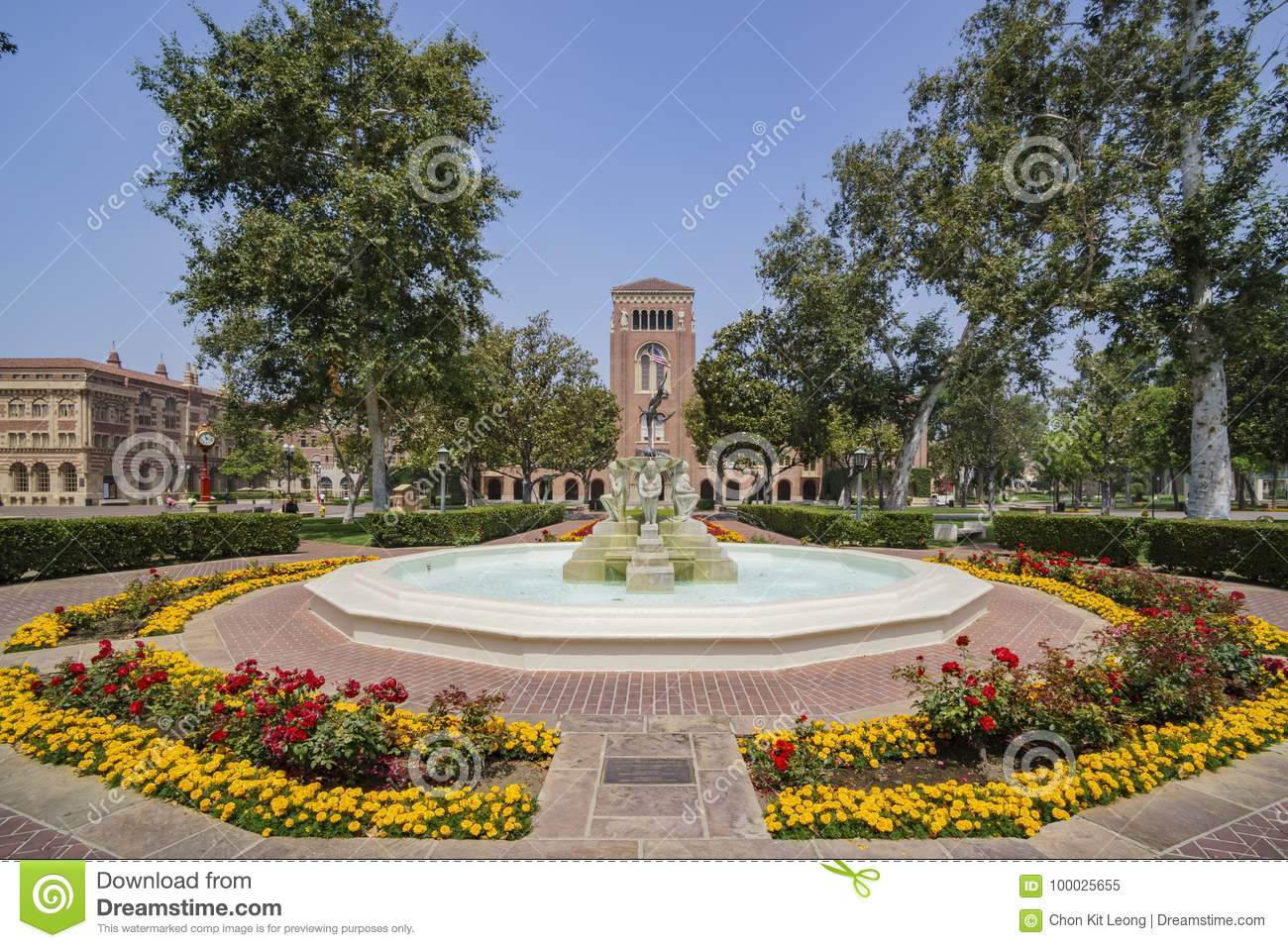 Campus Of The University Of Southern California Stock Image - Image of  yellow, angeles: 100025655