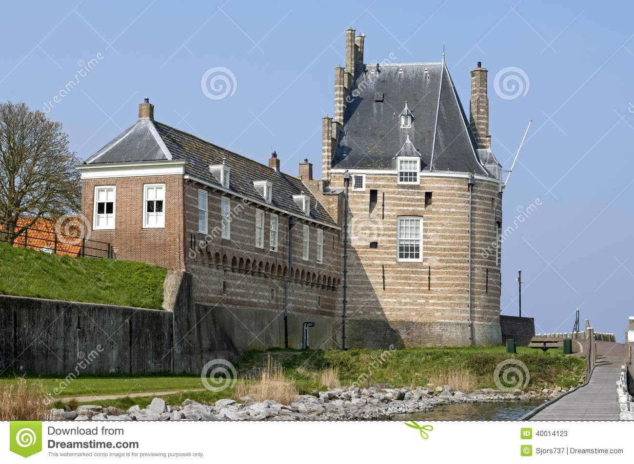 Campveerse tower in the fortified city veere stock photo for Hotel design zeeland
