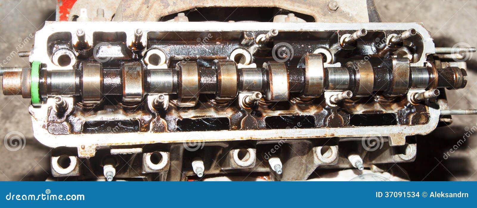 Download Camshaft samochód zdjęcie stock. Obraz złożonej z stary - 37091534