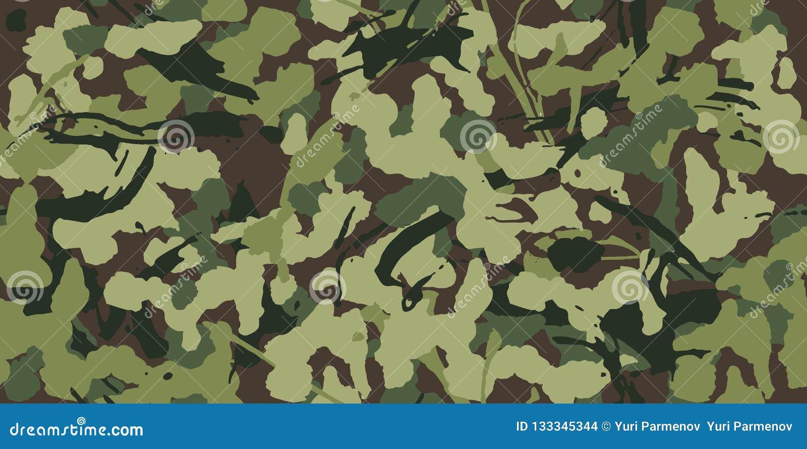 Camuflaje abstracto del grunge, modelo militar, ejército o búsqueda de la textura inconsútil del modelo de la ropa verde