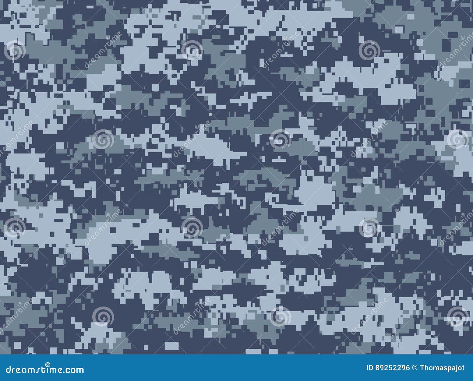 Camuflaje Azul De Los Pixeles Ilustración del Vector - Ilustración ...