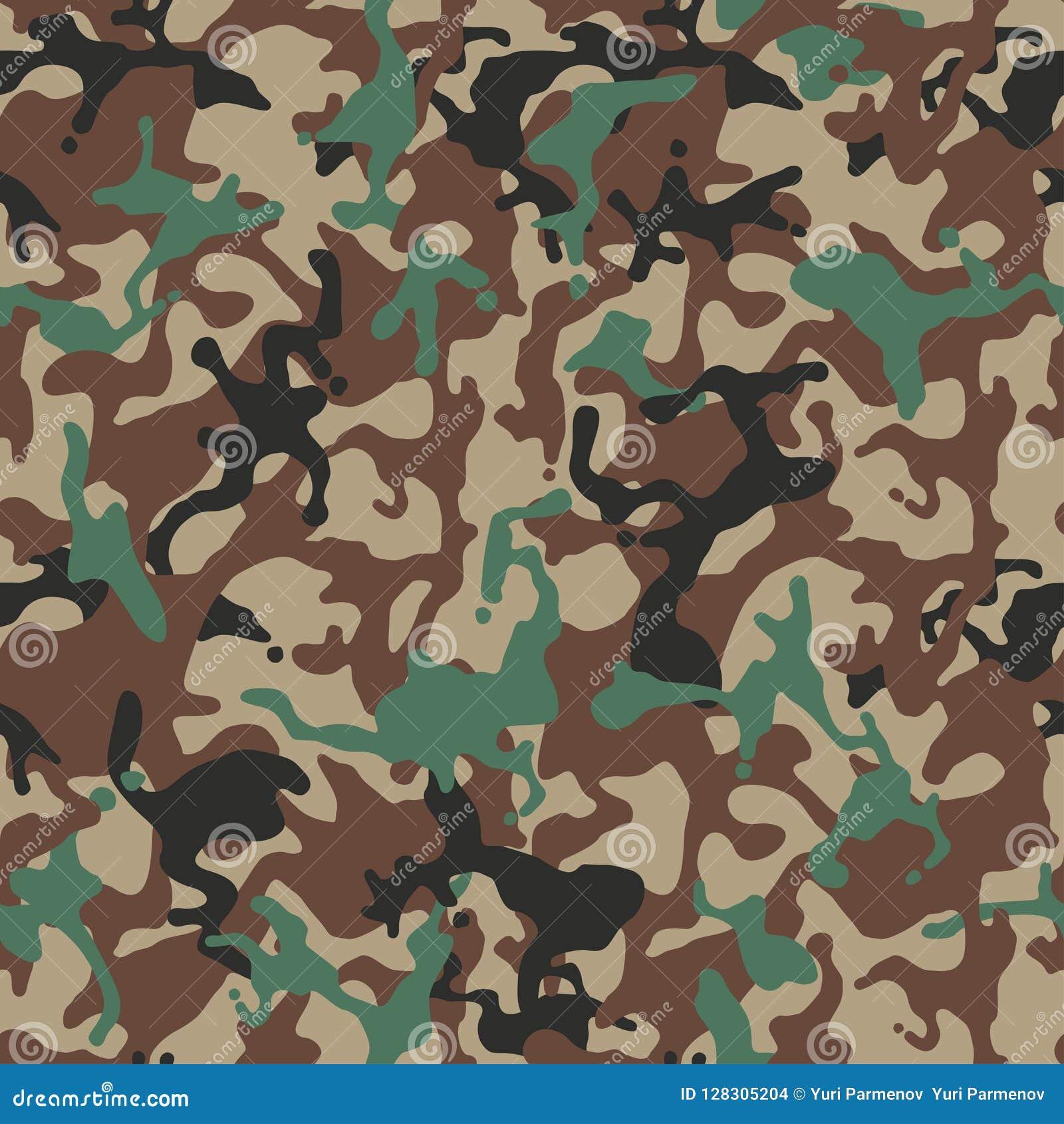 Camufle o teste padrão Uniforme militar verde Textura de Camo, fundo sem emenda do vetor