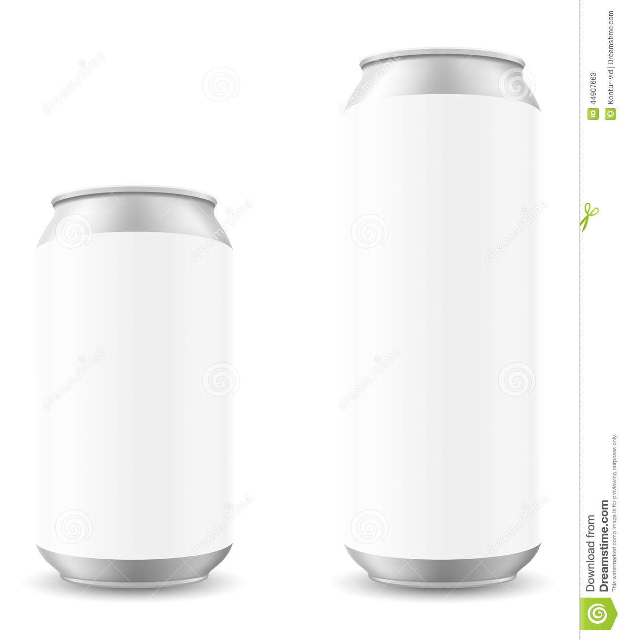 can of beer template blanck vector illustration stock vector