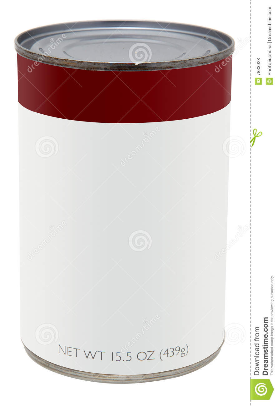 can with blank label stock photo image of grocery