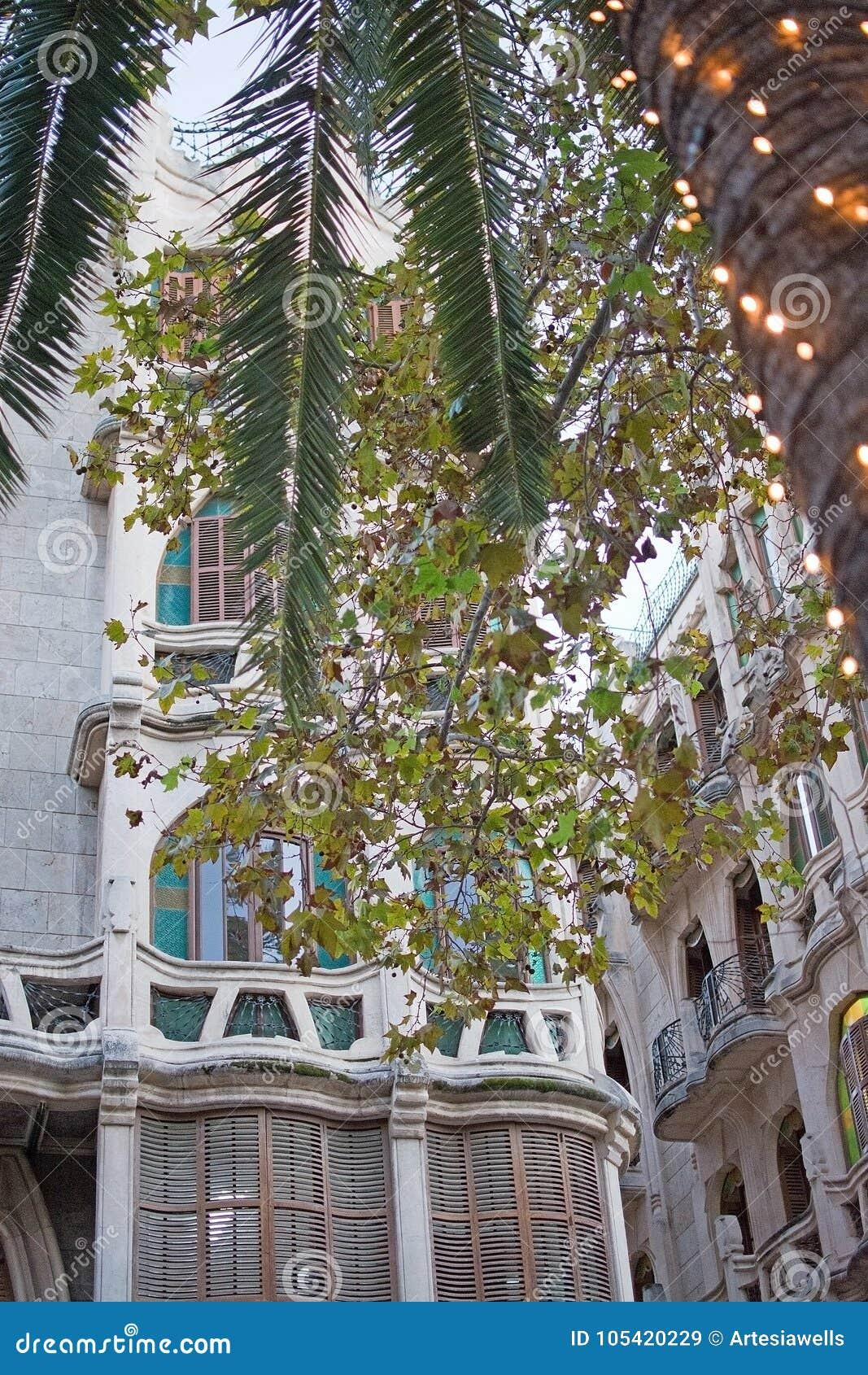 Can Casasayas Art Nouveau Building Christmas Editorial Stock Image ...