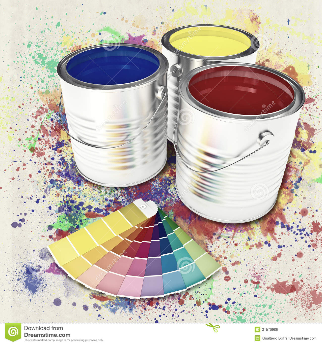 Can color paint stock illustration. Illustration of vintage - 31570986
