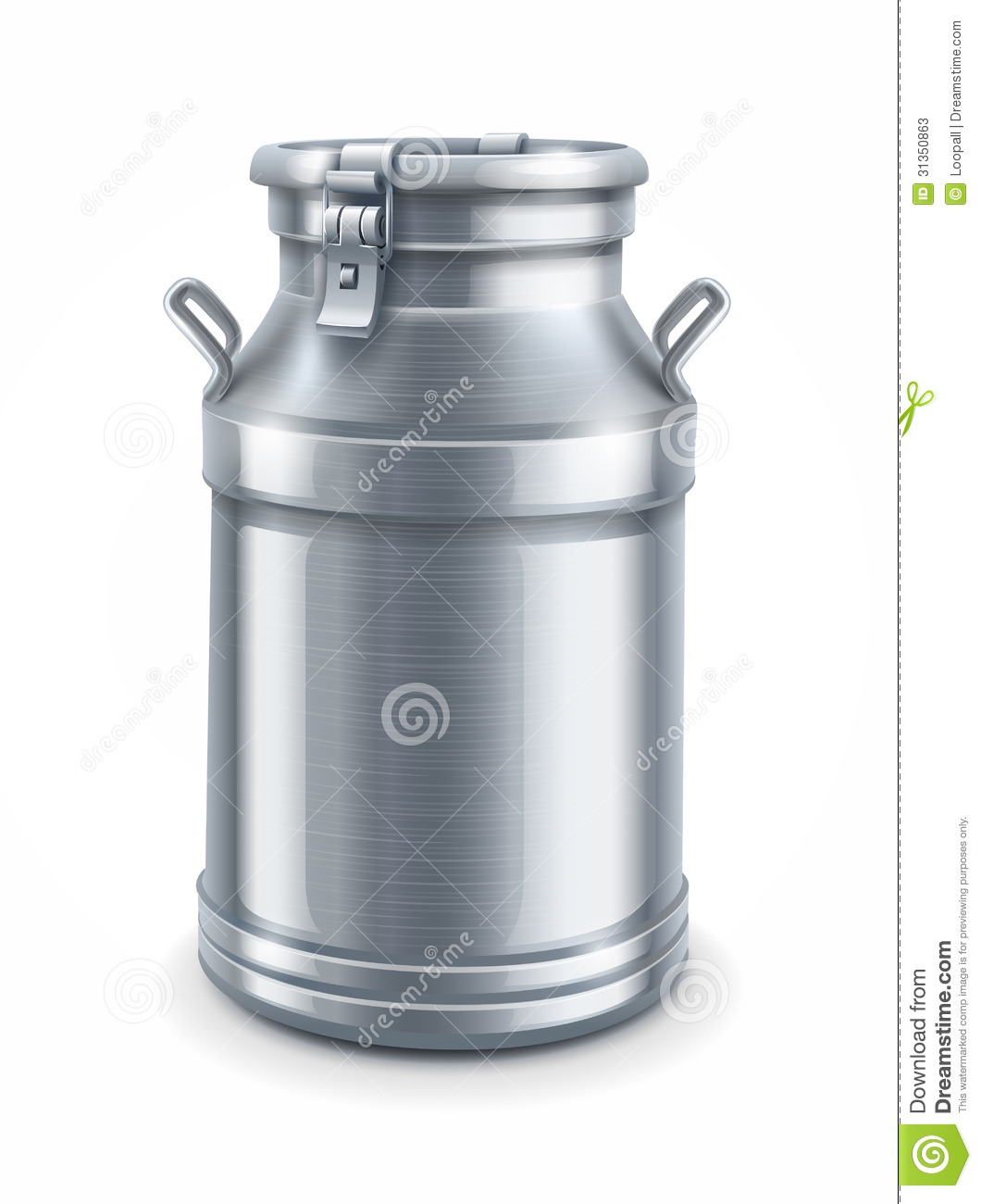 Can Container For Milk Vector Stock Photos Image 31350863