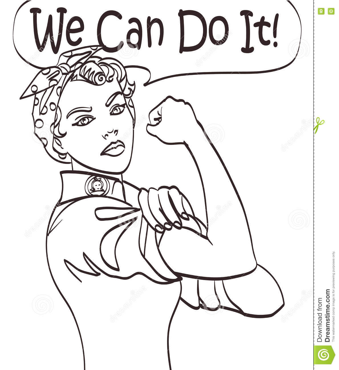 We Can Do It Lady Coloring Pages