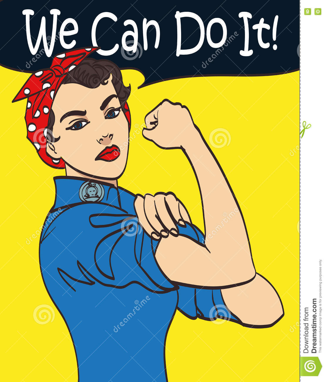 we can do it cool vector iconic woman s fist symbol of female power