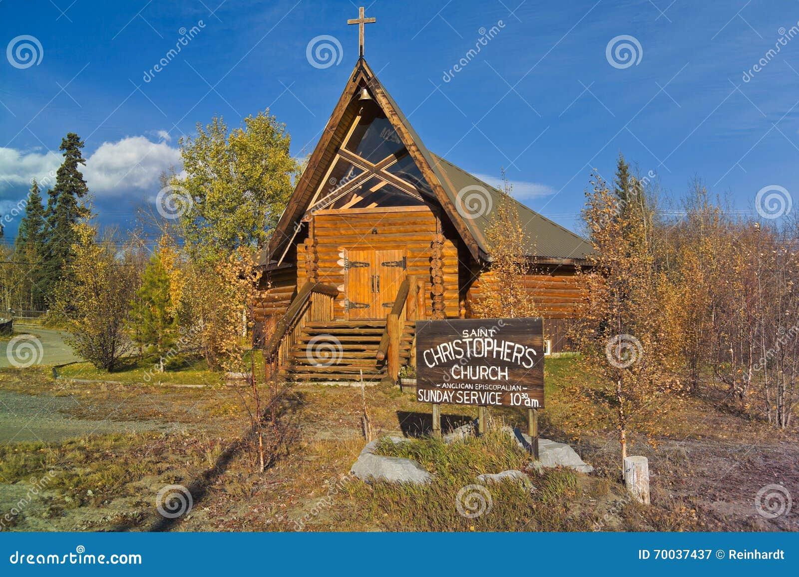 Can 1888-06 Log church, Haines Junction, Yukon, Canada