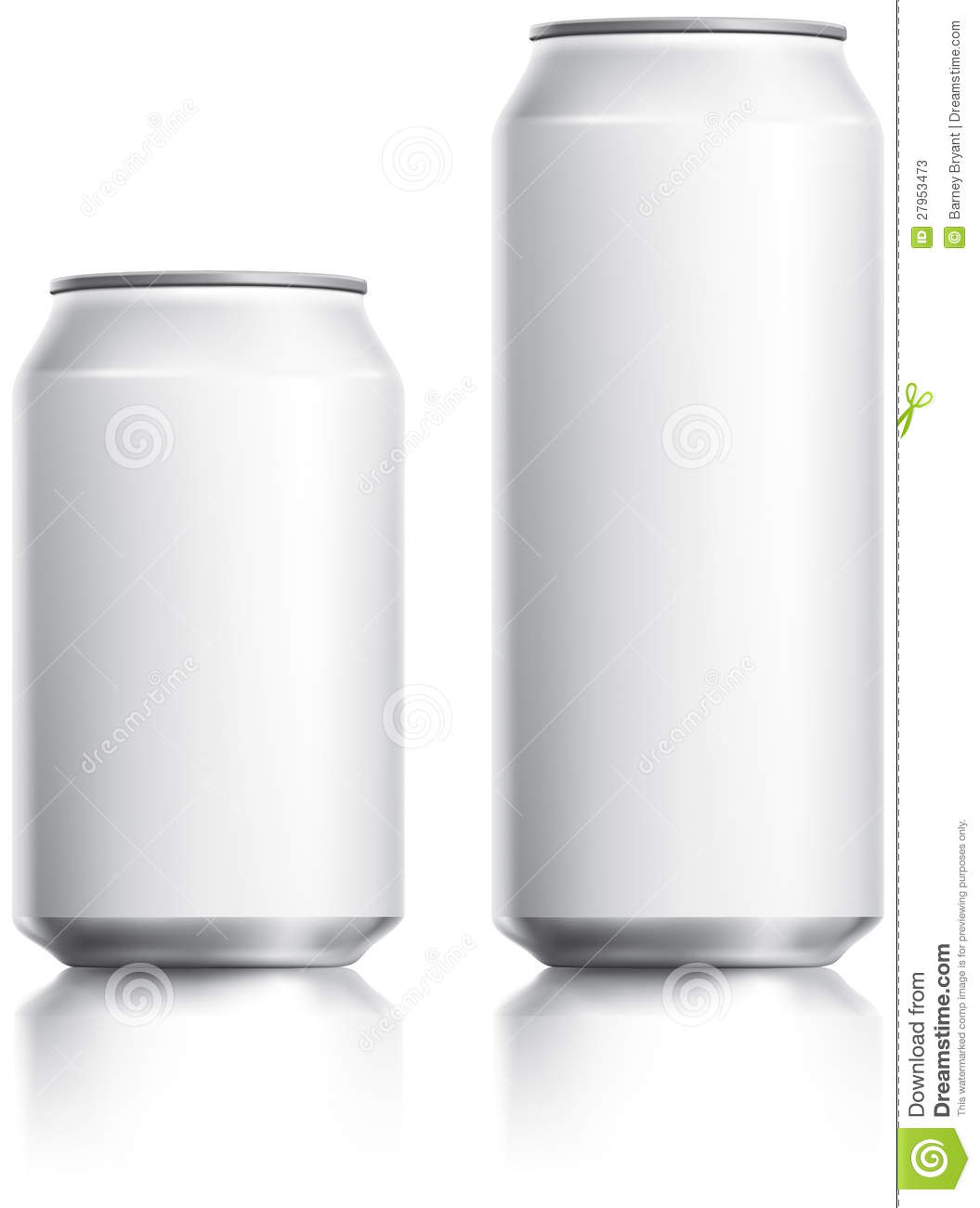 White Drinks Can Visual Stock Image Image Of Grey Plain