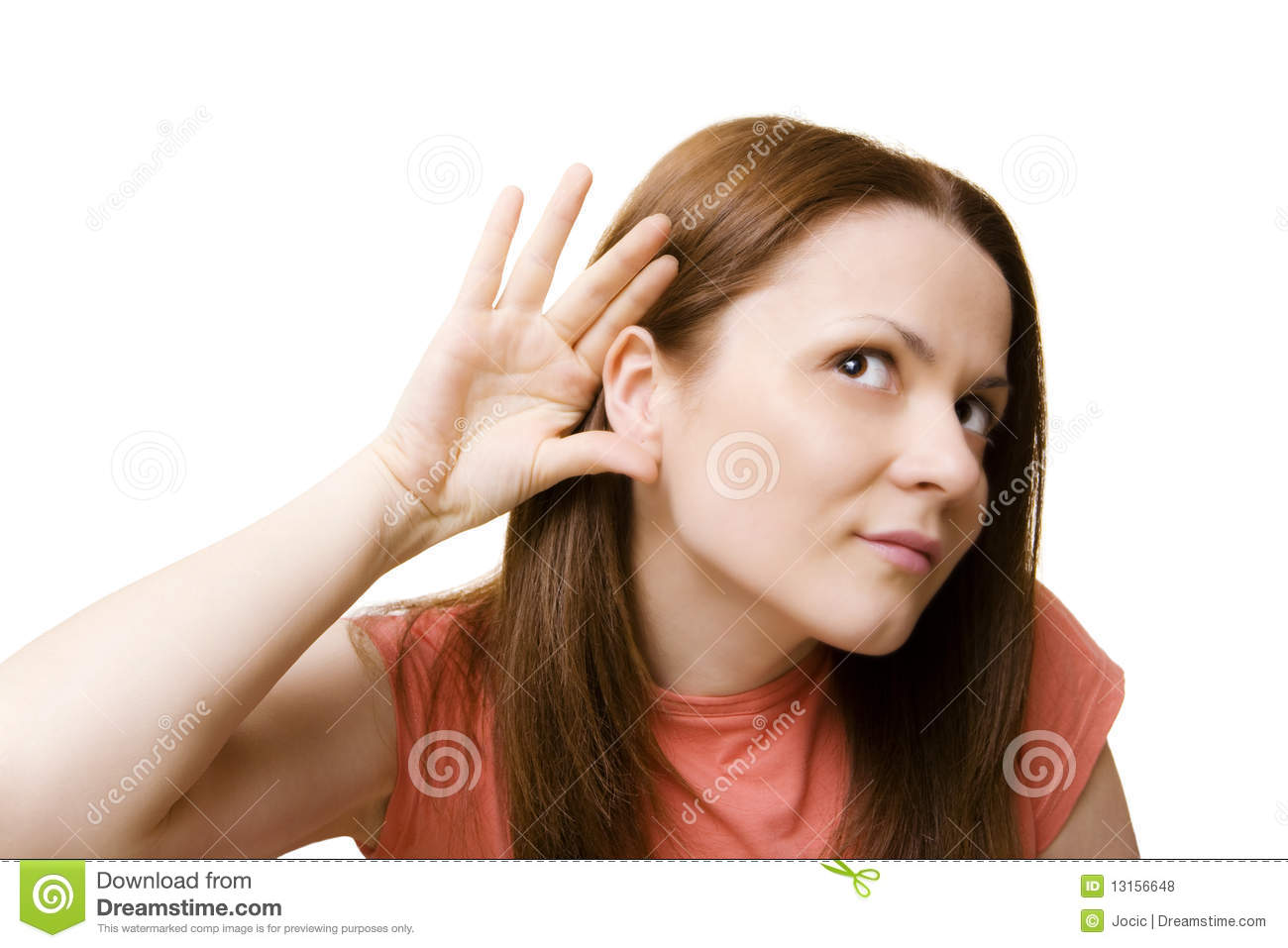 Can T Hear You Royalty Free Stock Photos Image 13156648
