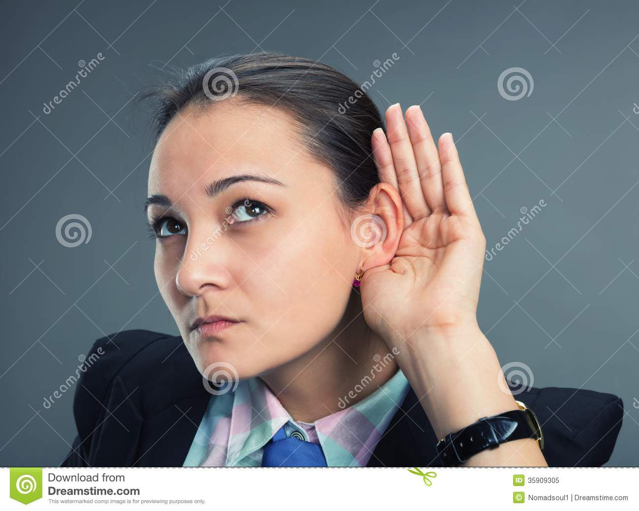 Can't Hear Royalty Free Stock Photo - Image: 35909305