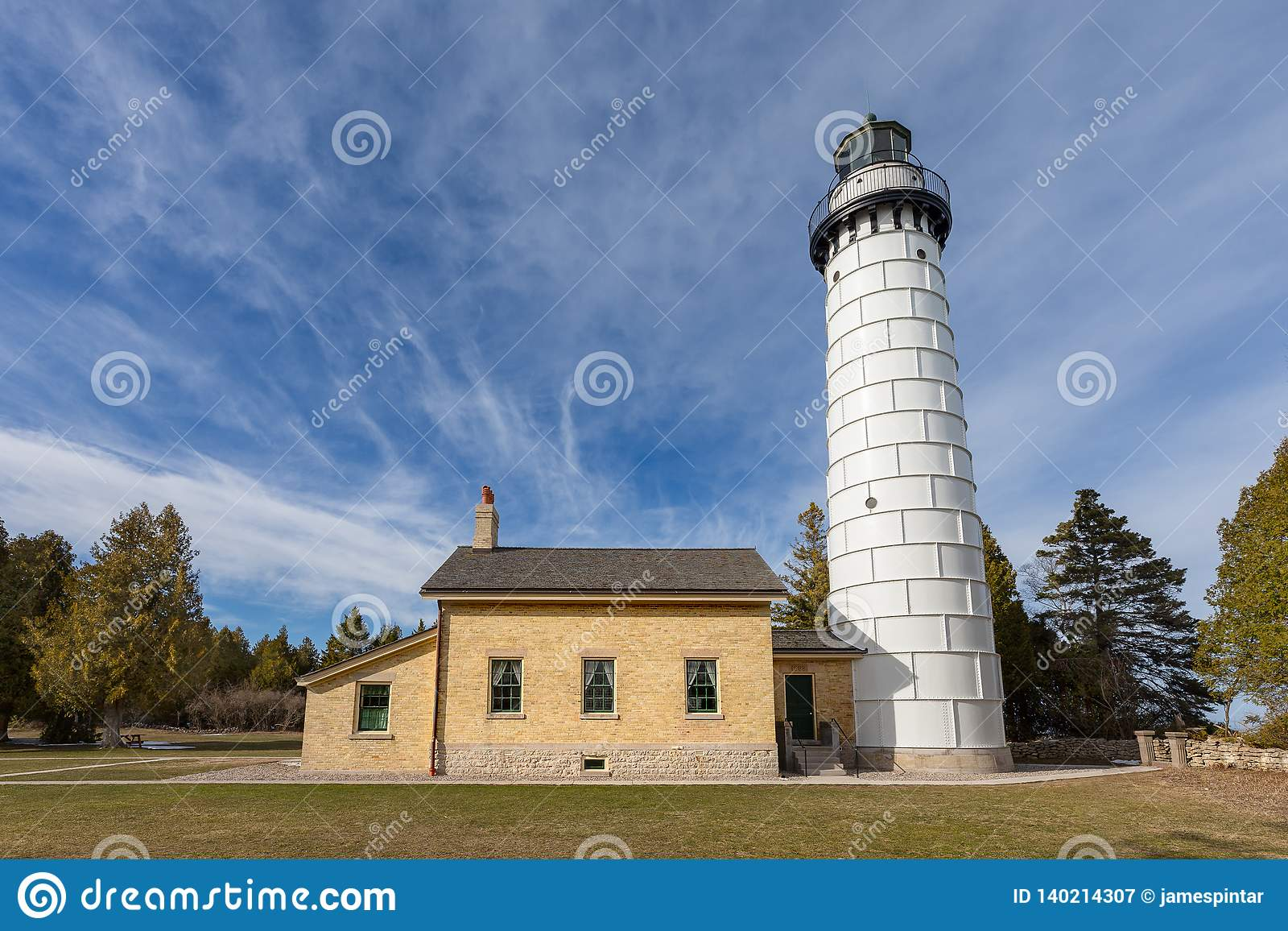 Cana Island Lighthouse in Door County Wisconsin