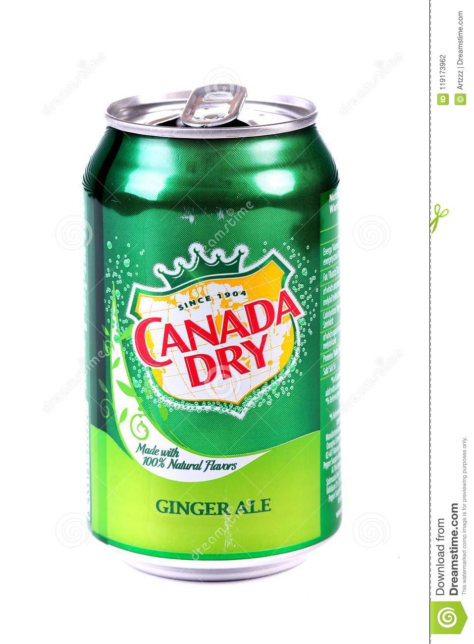 Canadá Ginger Ale seco