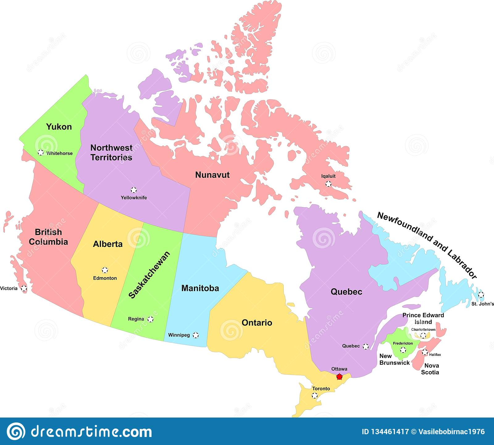 Map Of Cities Of Canada.Map Of Canada Main Cities