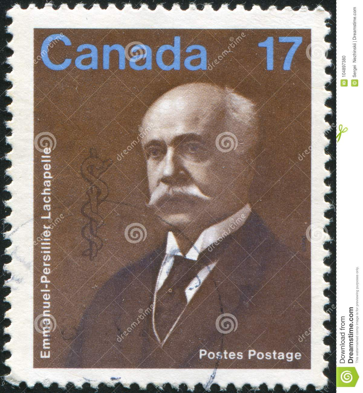 Poststamp printed by Canada