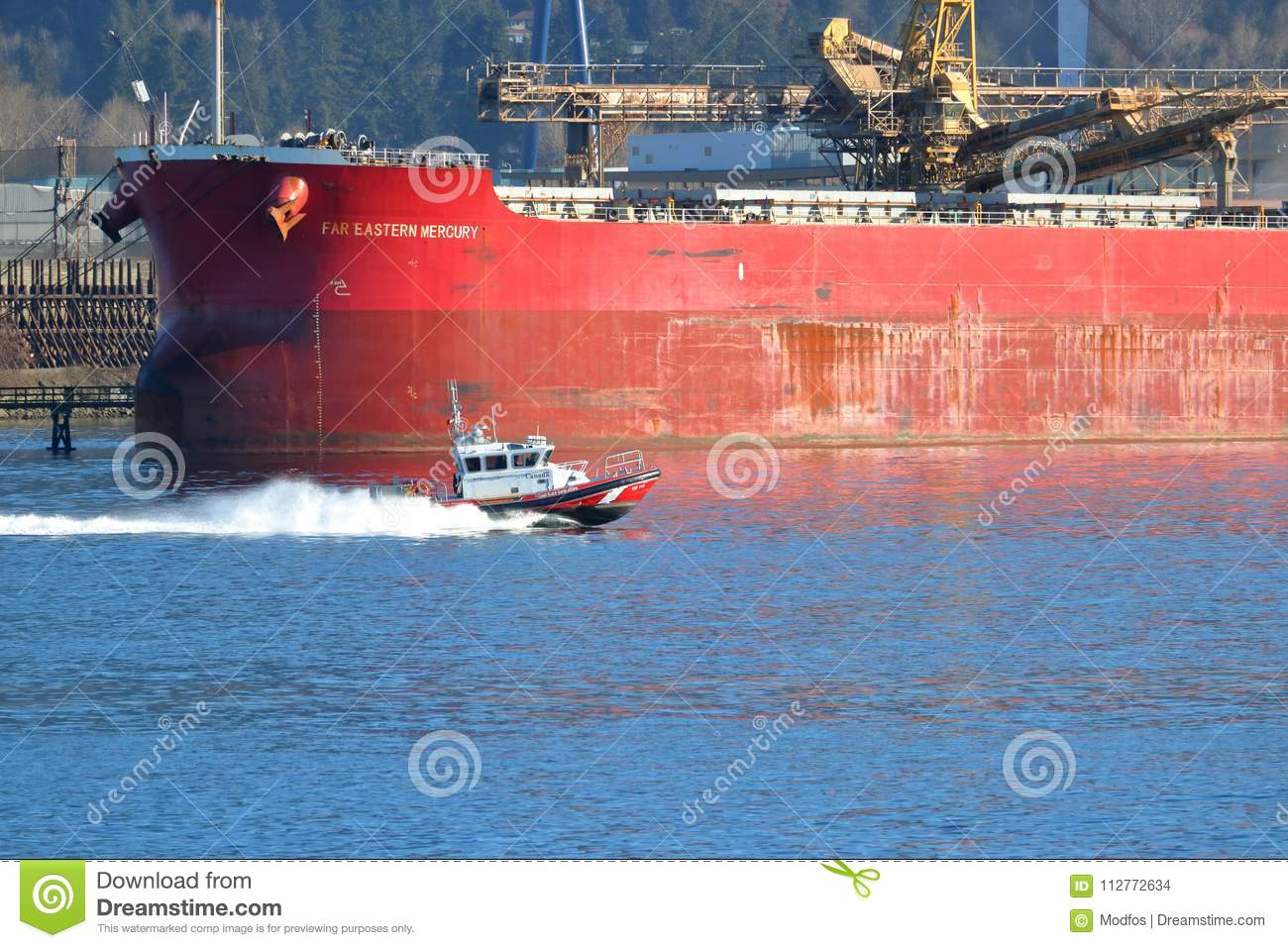 Canada Coast Guard In Action Editorial Stock Image - Image