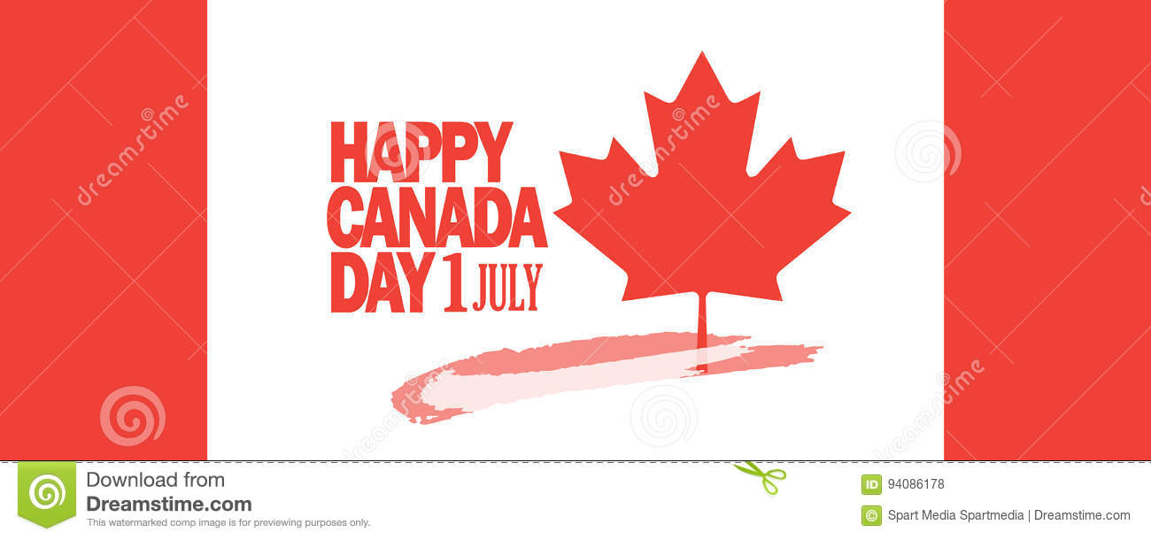 Download Canada Day greeting card stock vector. Illustration of design - 94086178