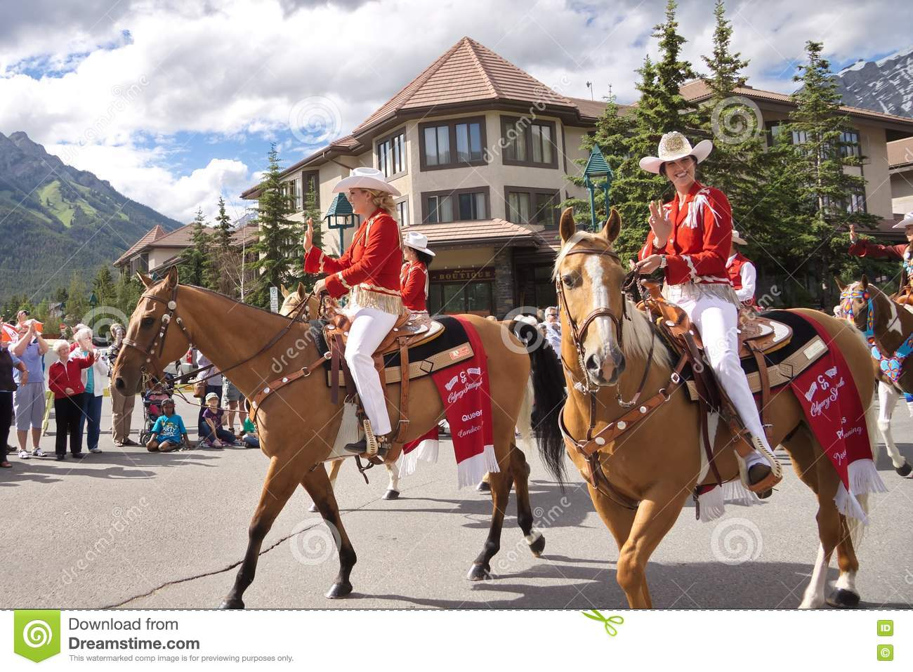 Canada Day Parade In Banff Editorial Image Image Of Girl