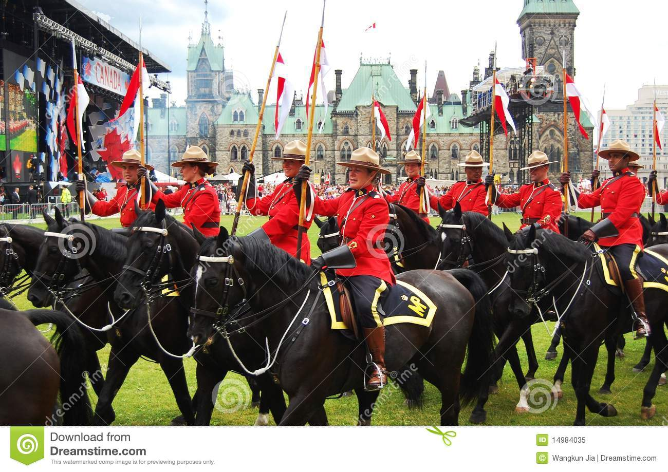 Canada Day RCMP Riding Horses In Ottawa Editorial Image - Image ...