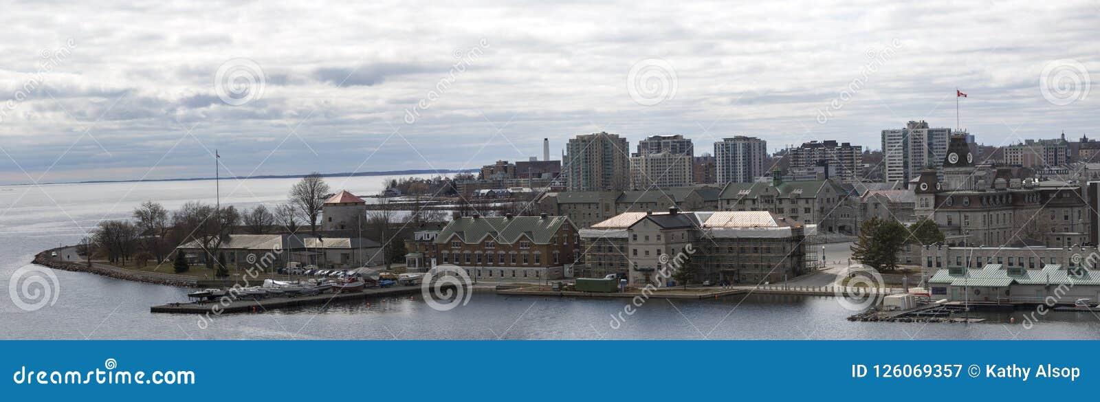 Canada et lac Ontario d Ontario de ville de Kiingston